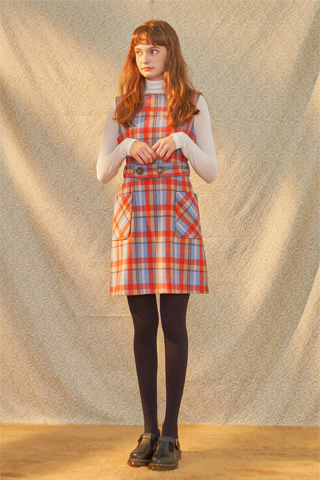 [19FW] Twiggy Check Two Button Dress