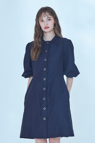 [20SS] Adeline Eyelet Dress [Navy]