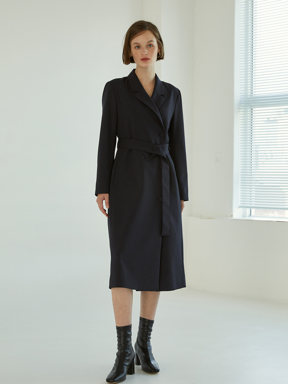 Claire Long Jacket Dress [Navy]
