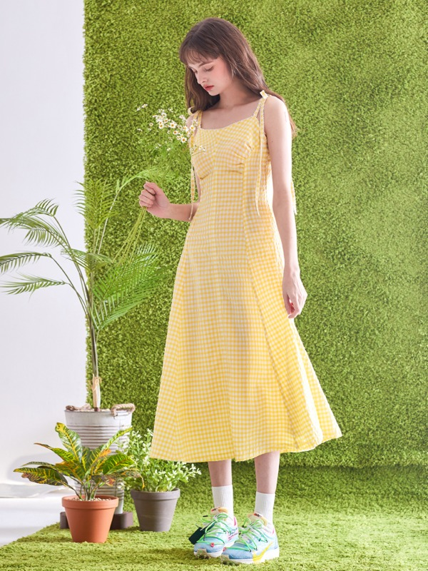 [송상은 착용] Strap Roco Dress [Yellow]