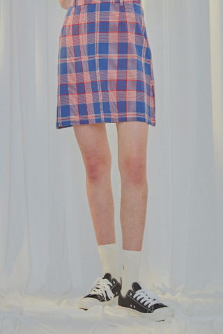 Check Patch Skirt