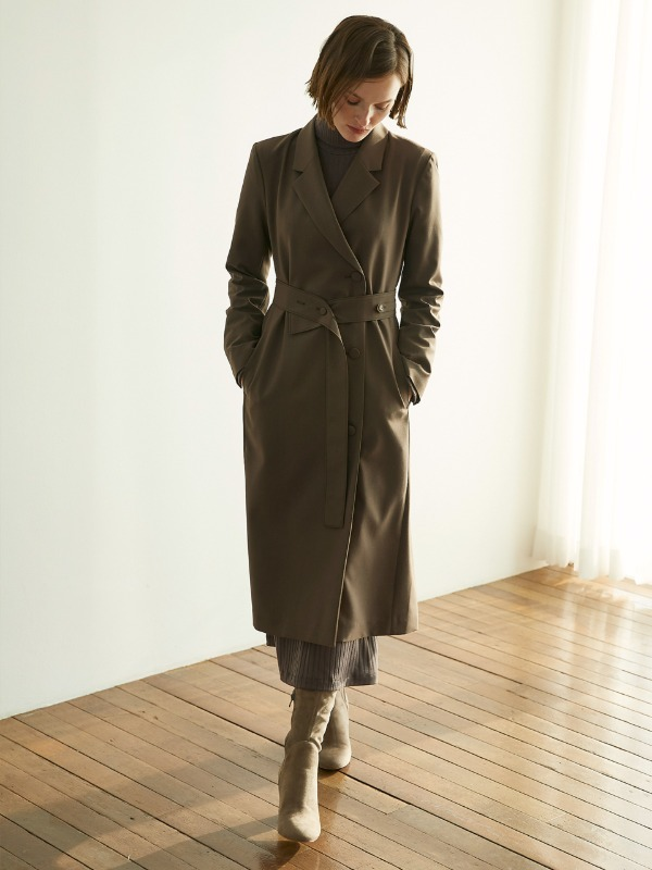 Claire Long Jacket Dress [Dark Brown]