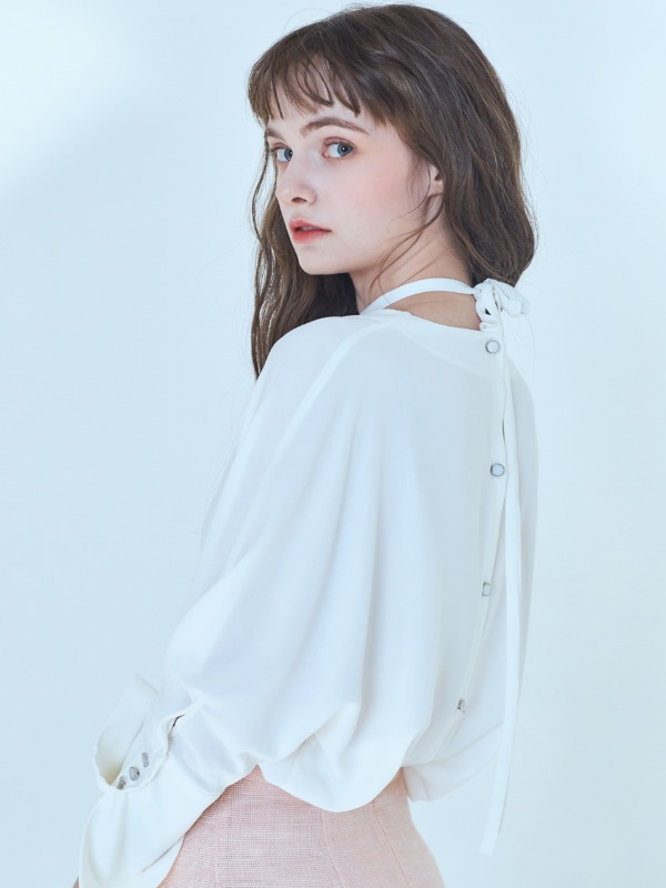Rafine Strap Blouse [White]
