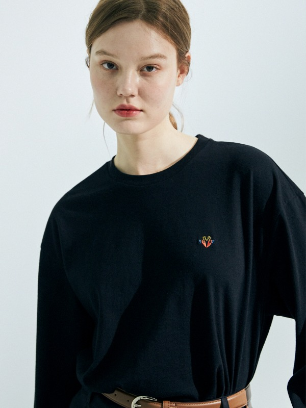 Logo Long Sleeve T-Shirt [Black]